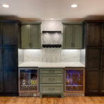 kitchen_green_cabinets_dual_bev_fridge